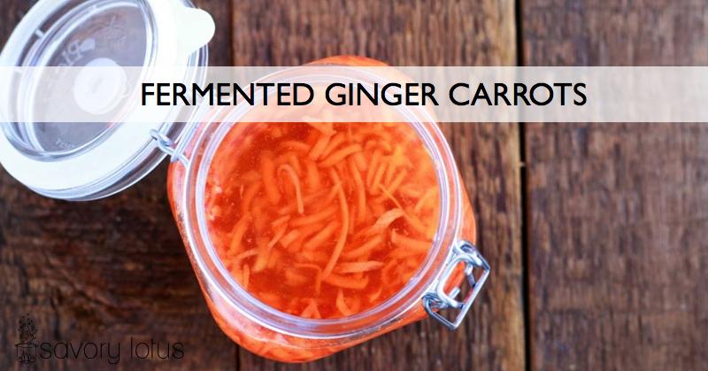 fermented carrots, fermented foods