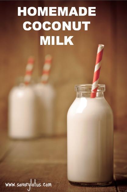 Homemade Coconut Milk - savorylotus.com