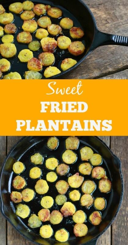 Sweet Fried Plantains ~ www.savorylotus.com