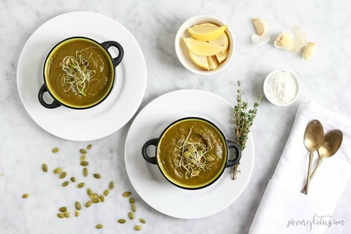 The Ultimate Green Soup | www.savorylotus.com (1) 2