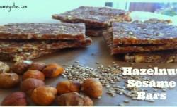 Hazelnut Sesame Bars