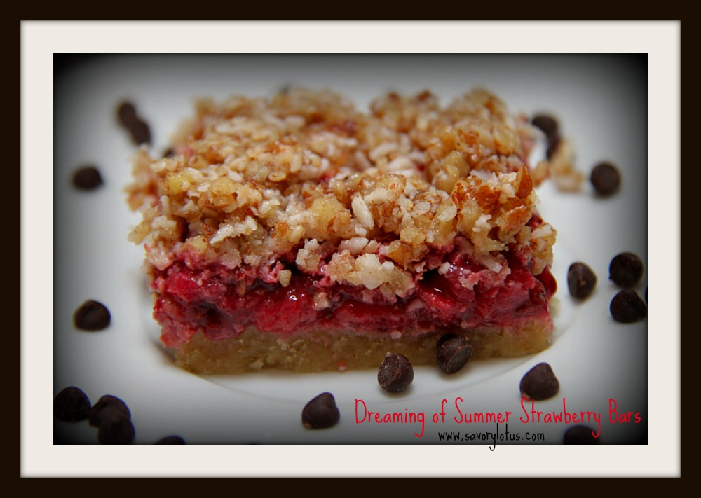 Dreaming of Summer Strawberry Chia Bars