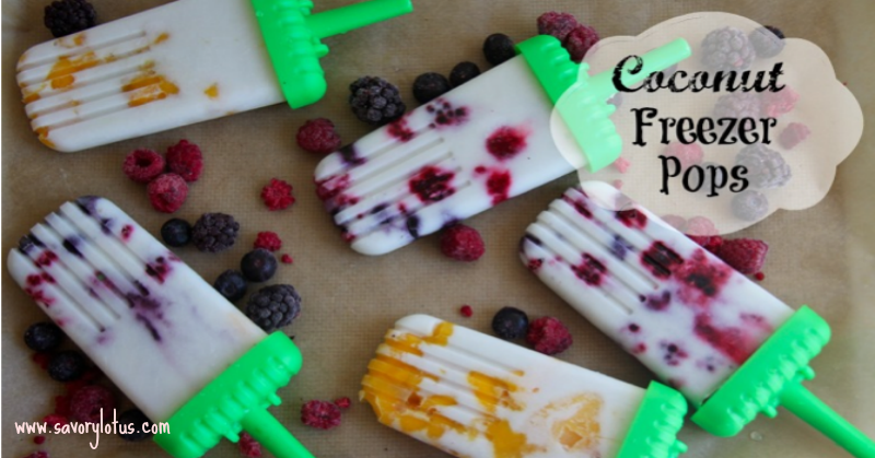 Coconut Freezer Pops (dairy free) savorylotus.com