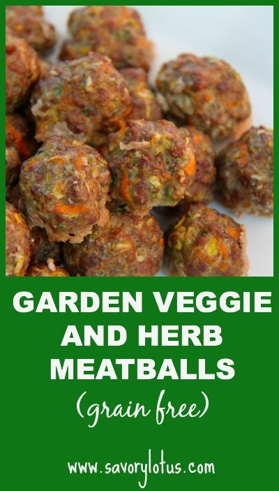 Garden Veggie and Herb Meatballs - savorylotus.com