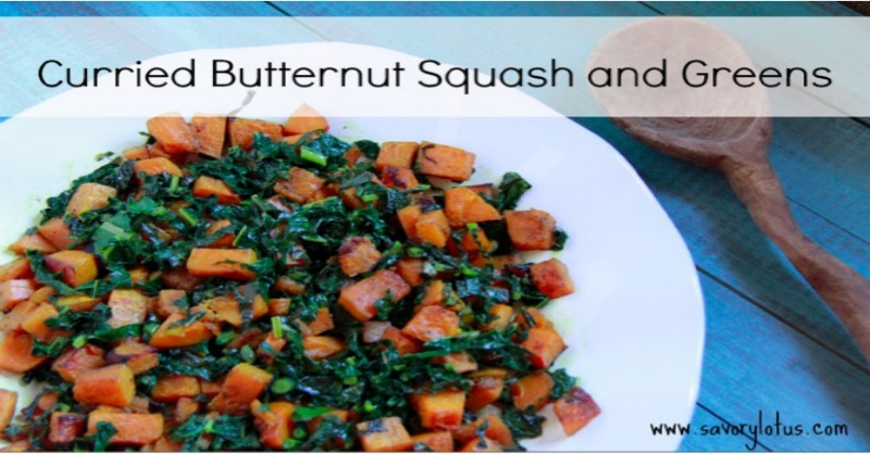 Curried Butternut Squash and Greens