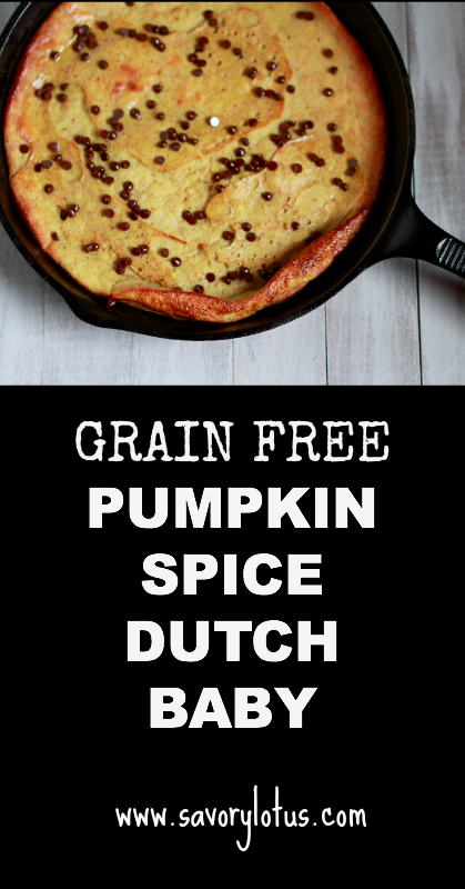 Pumpkin Dutch Baby (grain free) - savorylotus.com