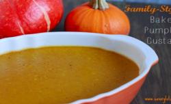 Baked pumpkin Custard - savorylotus.com