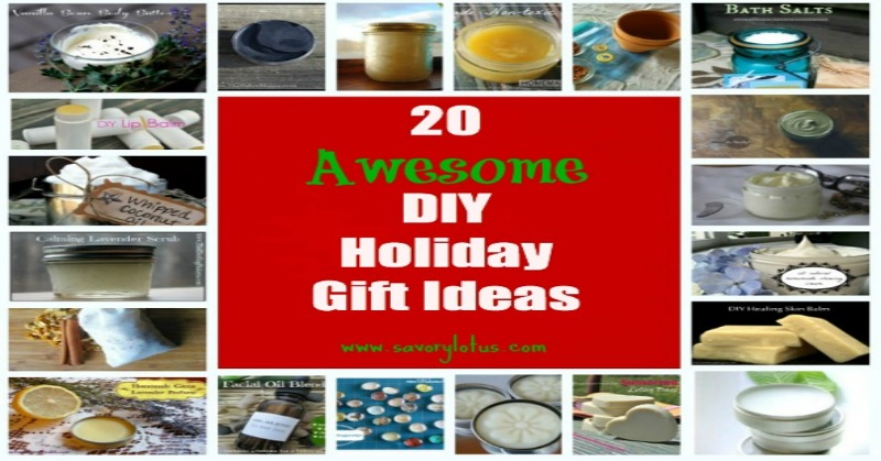 20 Awesome DIY Holiday Gift Ideas savorylotus.com
