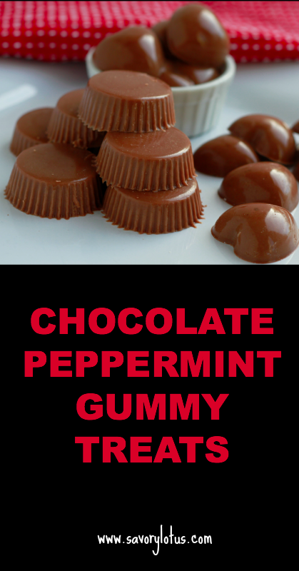 Chocolate Peppermint Gummy Treats - savorylotus.com