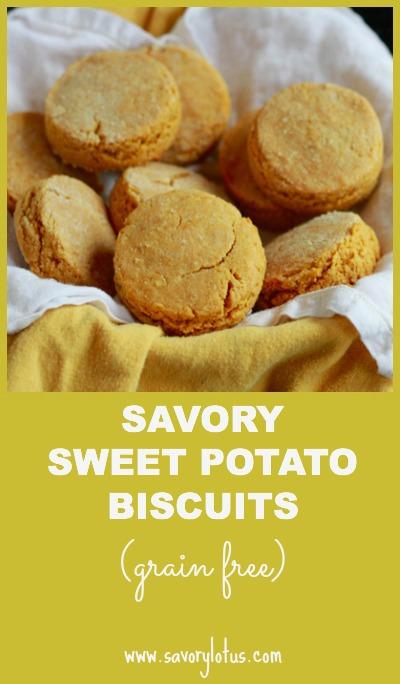 Savory Sweet Potato Biscuits (grain free ) ~ savorylotus.com