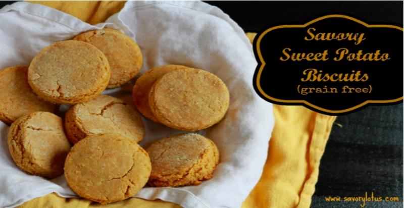Savory Sweet Potato Biscuits savorylotus.com