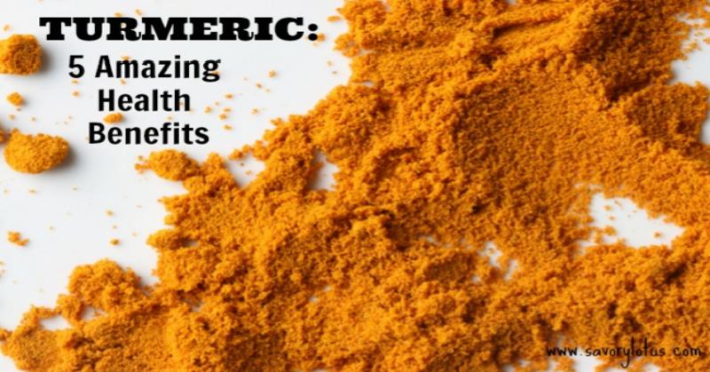 Turmeric 5 Amazing Health Benefits savorylotus.com