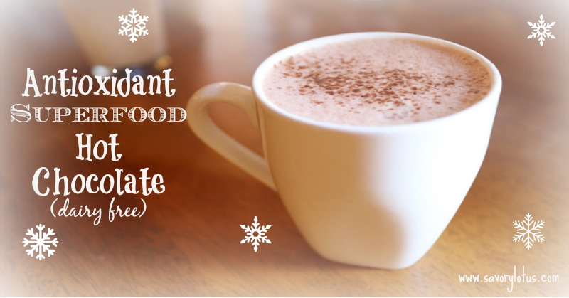 Antioxidant Superfood Hot Chocolate (Paleo)