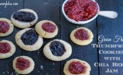 Grain Free Thumbroint Cookies with Chia Berry Jam  savorylotus