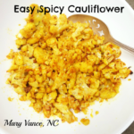 Easy Spicy Cauliflower