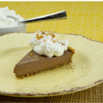 Chocolate Pudding Pie with Macadamia Crust