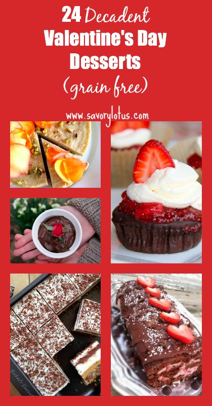 24 Decadent Grain Free Valentine's Day Desserts - savorylotus.com