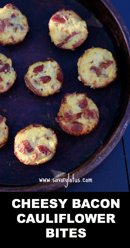 Cheesy Bacon Cauliflower Bites