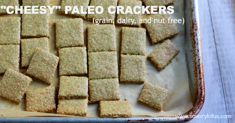 """Cheesy"" Paleo Crackers (grain, dairy, and nut free)"