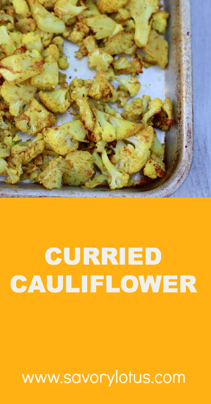 Curried Cauliflower - savorylotus.com