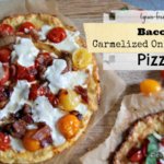 Bacon Pizze with Caramelized Onions
