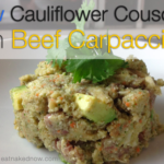 Raw Cauliflower Couscous with Beef Carpaccio