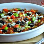 Supreme Pizza Cauliflower Casserole