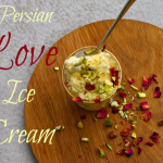 Saffron and Rose Persian Ice Cream