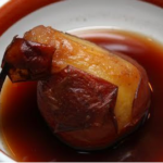 Caribou-Poached Pears