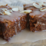 Sweet Potato Bars with Coconut Honey Drizzle (grain free)
