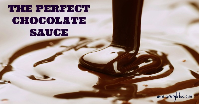 The Perfect Chocolate Sauce (dairy and refined sugar free)