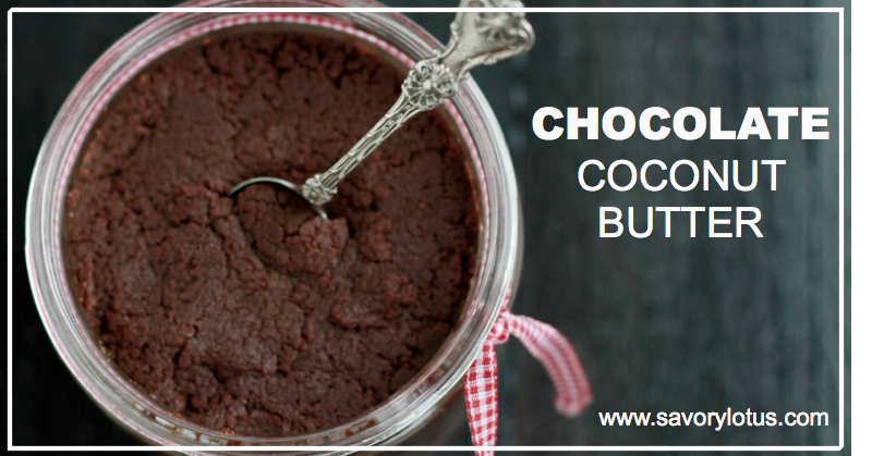 Chocolate Coconut Butter : savorylotus.com