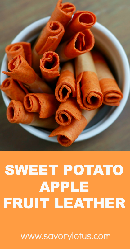 Sweet Potato Apple Fruit Leather - savorylotus.com