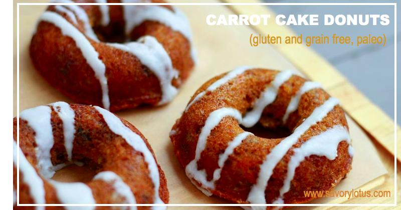 Carrot Cake Donuts (gluten and grain free, paleo) | savorylotus.com