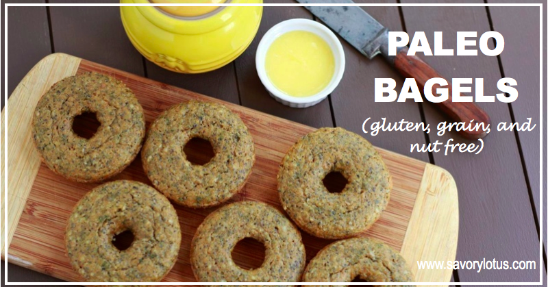Paleo Bagels (gluten, grain, and nut free) | savorylotus