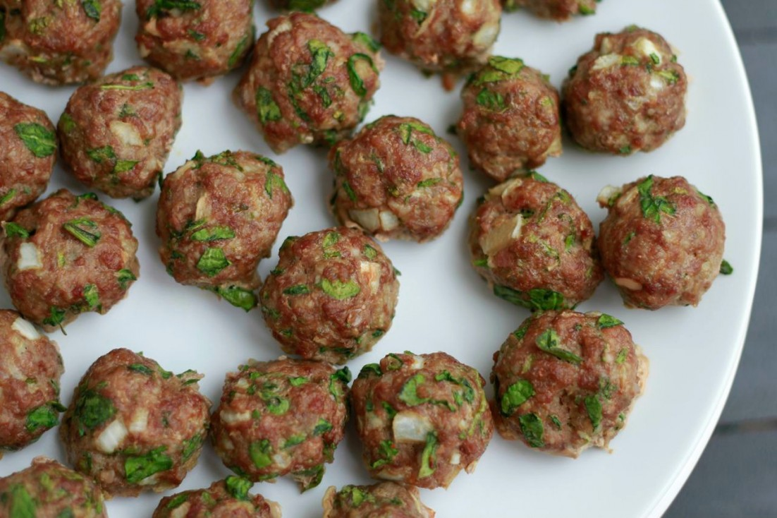 Spinach Cilantro Meatballs (grain free)  savorylotus.com