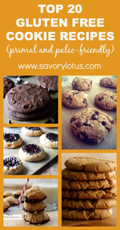 Top 20 Gluten Free Cookies (primal and paleo-friendly) - savorylotus.com