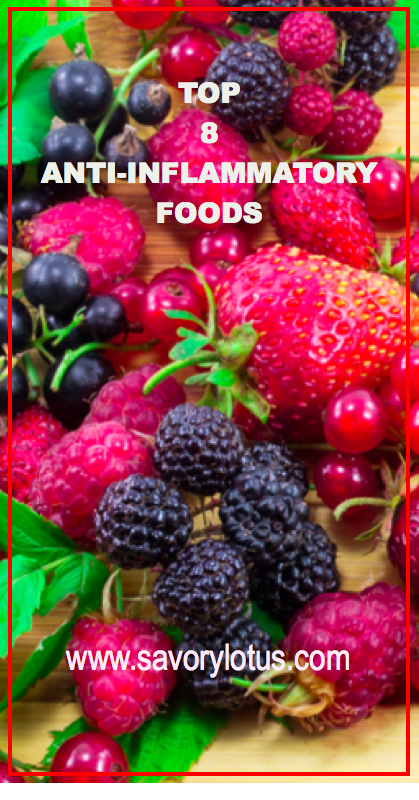 Top 8 Anti-Inflammatory Foods - savorylotus.com.001