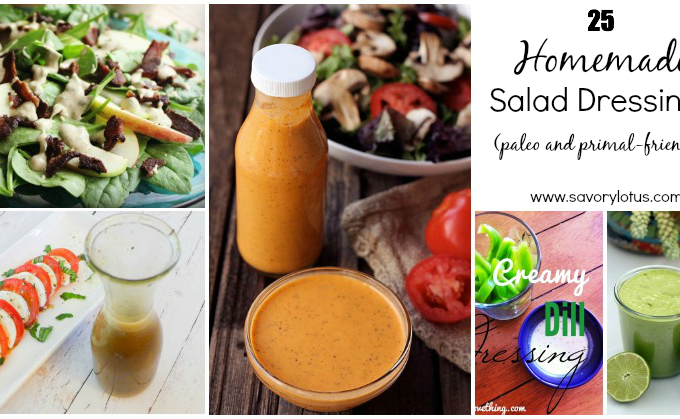 25 Homemade Salad Dressings (paleo and primal-friendly)