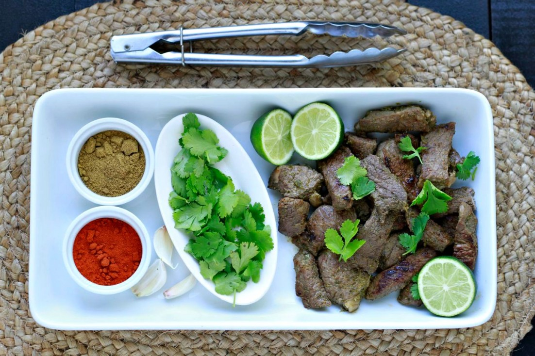 Cilantro Lime Steak Strips ~ savorylotus.com