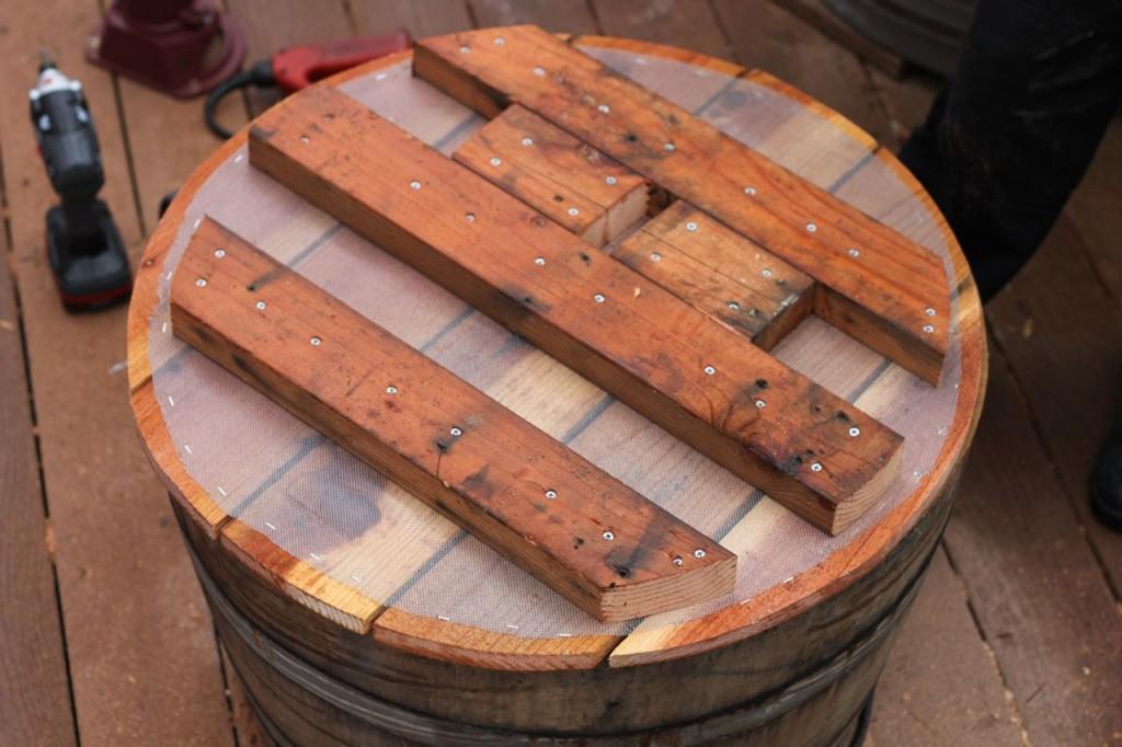 How to Make a Wine Barrel Water Pump ** savorylotus.com