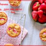 Strawberry Banana Muffins (grain, dairy, and nut free) || savorylotus.com.