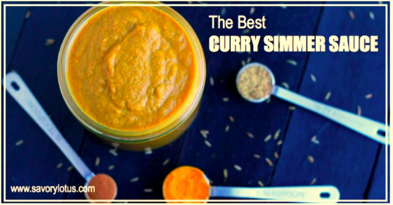 The Best Curry Simmer Sauce savorylotus.com