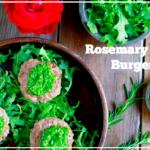 Rosemary Lamb Burgers with Pesto (gluten and grain free) | savorylotus.com