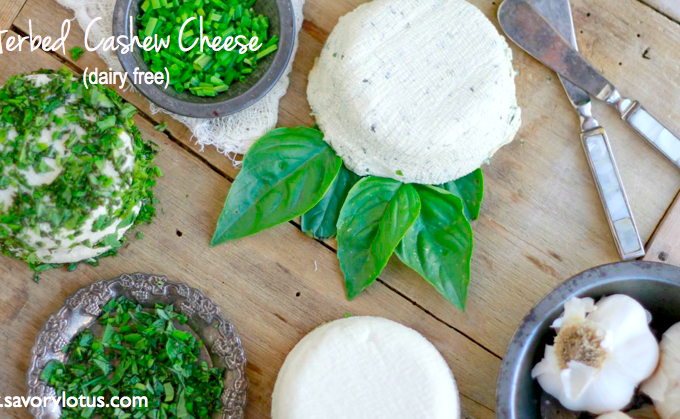 Herbed Cashew Cheese (dairy free)