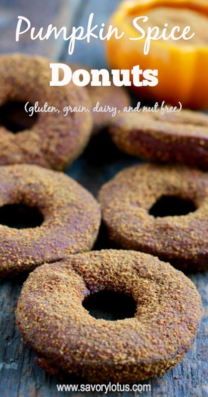 grain free donuts, pumpkin, gluten free donuts