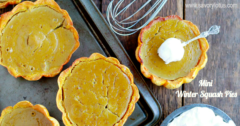 winter squash, pies, mini pies, fall foods