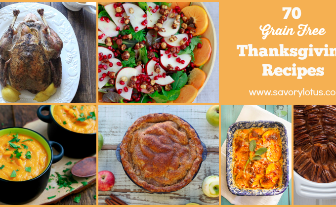 70 Grain Free Thanksgiving Recipes (paleo and primal-friendly)