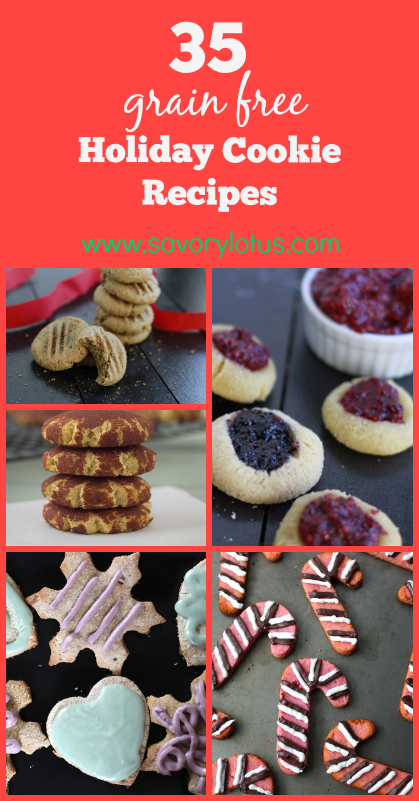 gluten free, grain free, holiday cookies