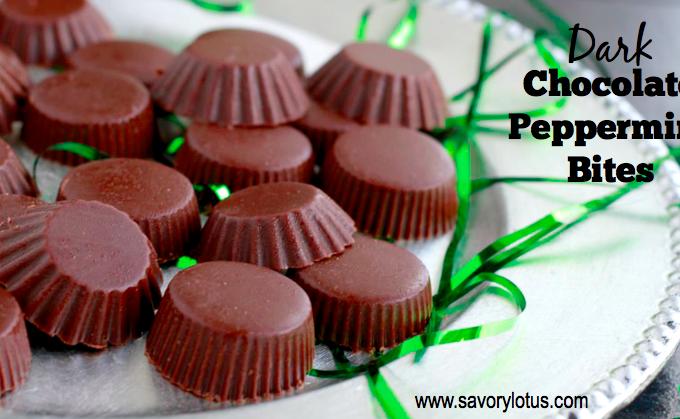 Dark Chocolate Peppermint Bites